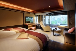 新客室、展望風呂付特別室「はんなりBタイプ」一例