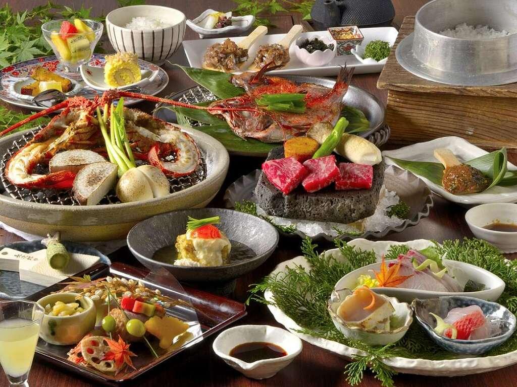 ジビエ(猪)料理に加えて 海の幸、山の幸の創作料理をご堪能いただける夕食プラン