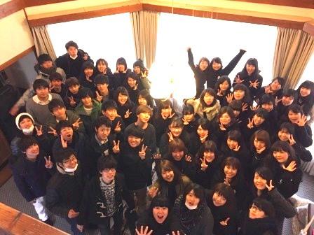 ★武蔵大学アムローソ様★コテージに全員集合★