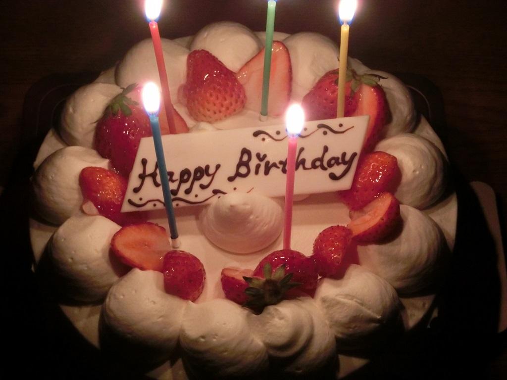 【夕食後にバースデーケーキでお祝いを】 ※画像はイメージです