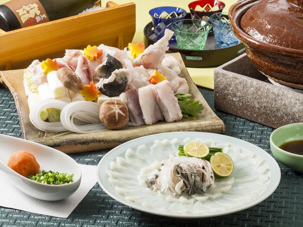 【冬の味覚】てっさ・てっちり・雑炊が付いたふぐコース ※イメージ
