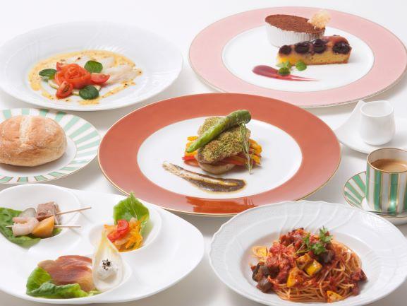 人気のイタリアンランチをご用意。メイン料理はお好みでお魚またはお肉をお選びいただけます。