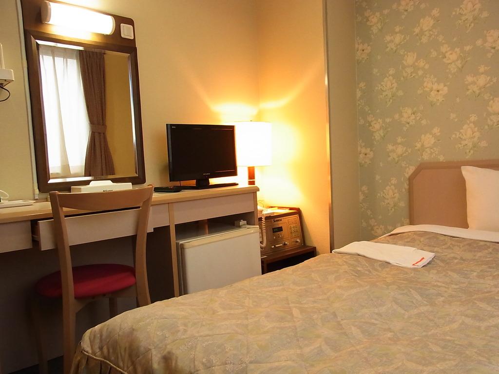 客室一例。壁紙はフロアによって変わります。
