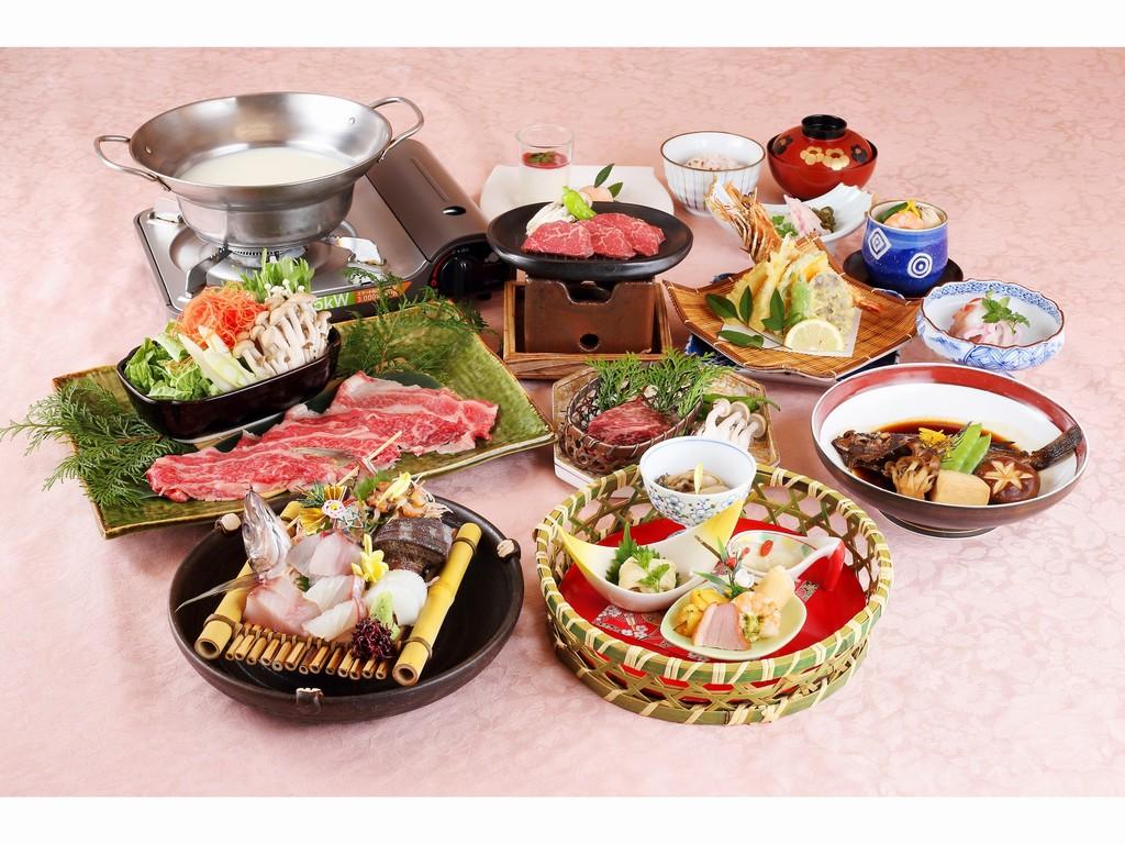 特別会席で豪華なご夕食(写真はイメージです)