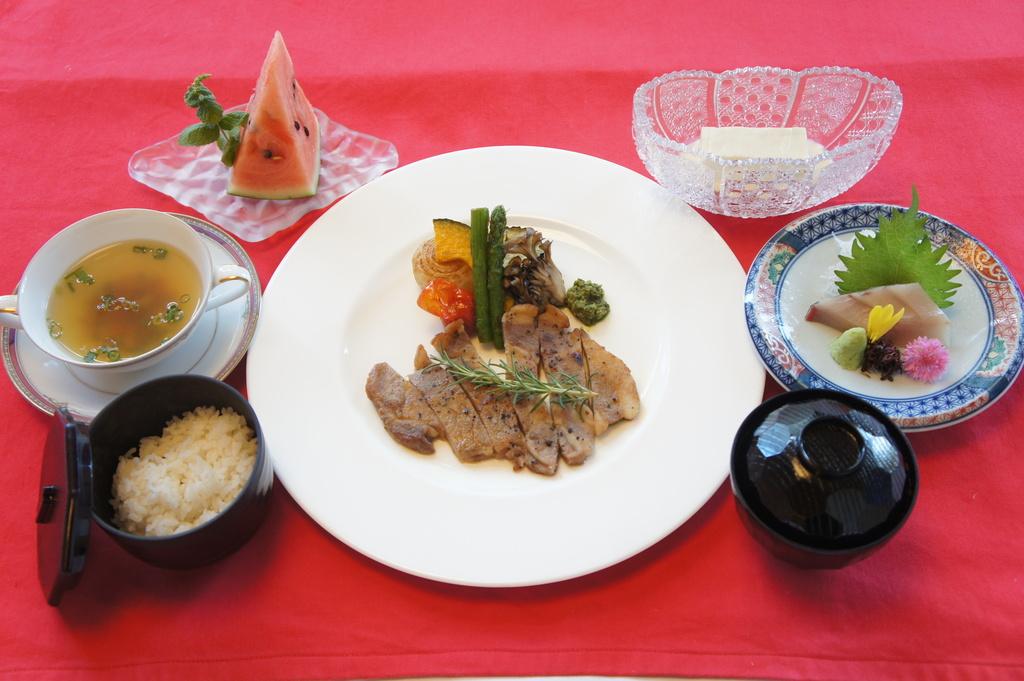 岡山ピーチポーク和膳で美味しい昼食♪