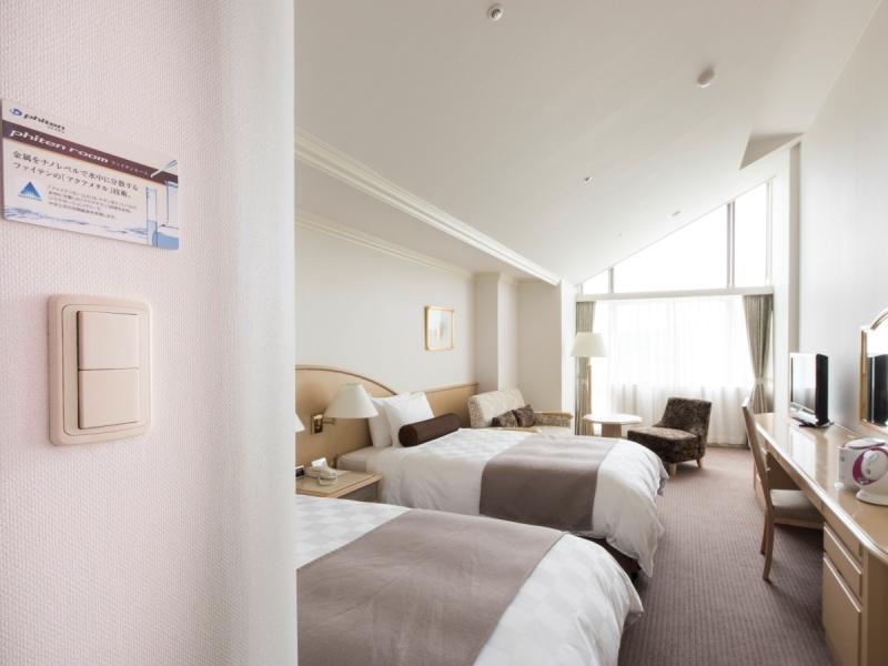 【ファイテンルーム(1〜2名)_客室例】<Br>「ファイテン」のアクアチタン技術がもたらす良質な眠りを。