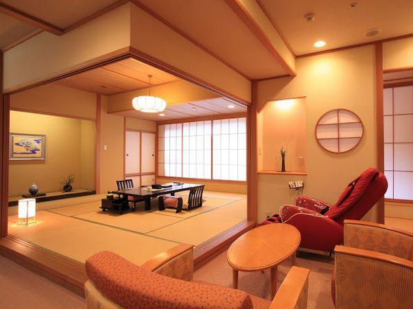 2室のみの高級感ただよう露天風呂付特別室 和洋室タイプ