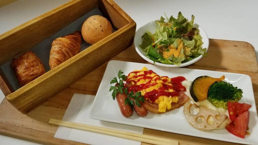 朝食を食べて好調な一日のスタートを!