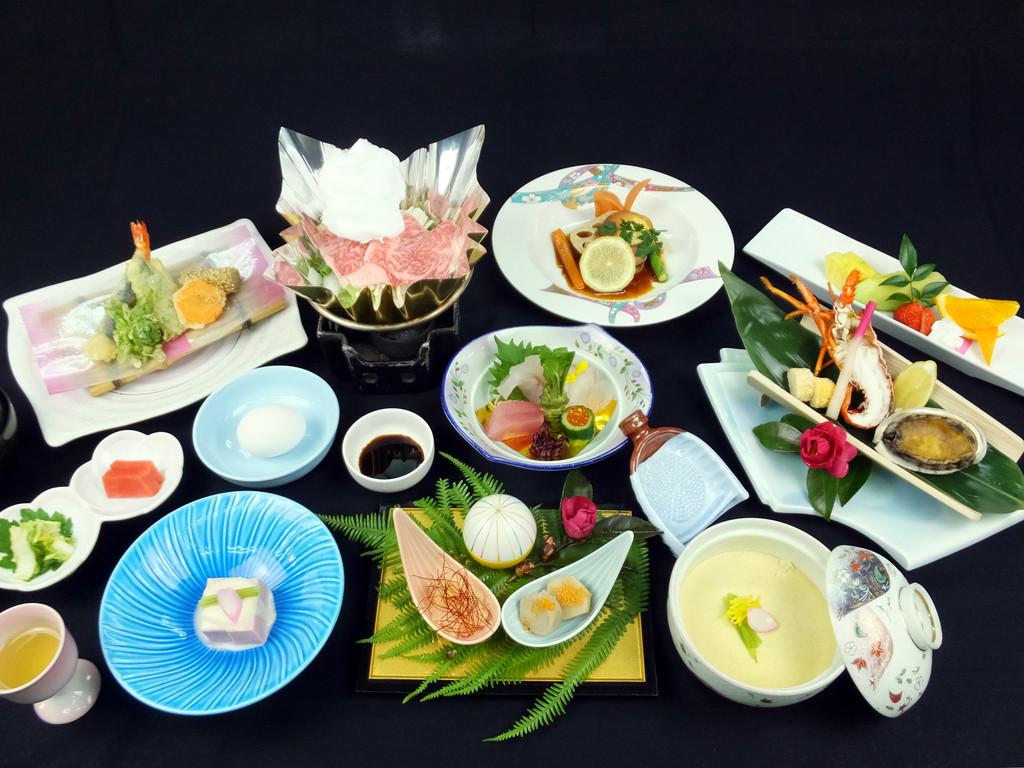 ご夕食イメージ■グレードUPプラン■※季節によりお料理内容は変わります。