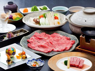 Kobe Beef shabu-shabu dinner with small steak