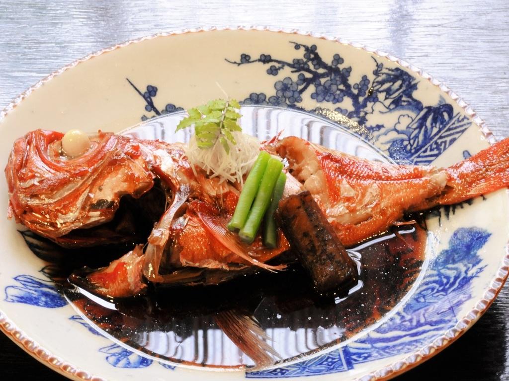 房総の「海の幸」金目鯛の姿煮