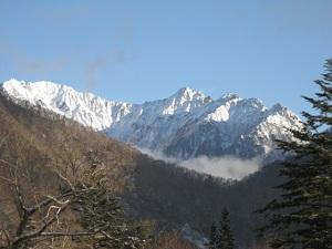 厳冬の穂高連峰