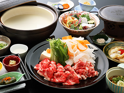 身体に優しい定番の豆乳しゃぶ鍋コース(料理イメージ)