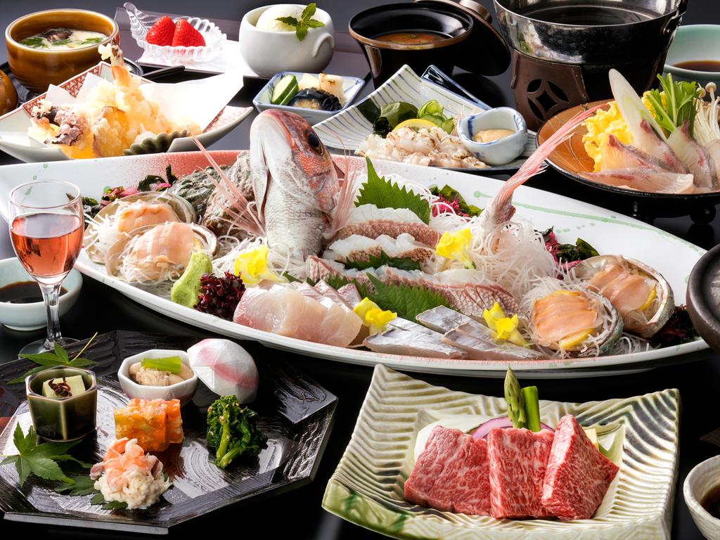 旬の幸と淡路島の幸を盛り込んだ逸品会席(料理イメージ)