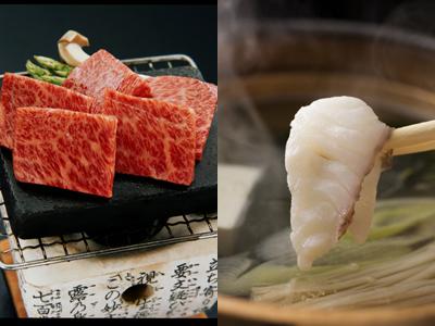 「淡路牛」 と春の味覚「桜鯛」の饗宴(料理イメージ)