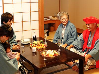 おじいちゃんやおばあちゃんの還暦のお祝い旅行などめでたい旅行にお勧めなのがこのプラン!