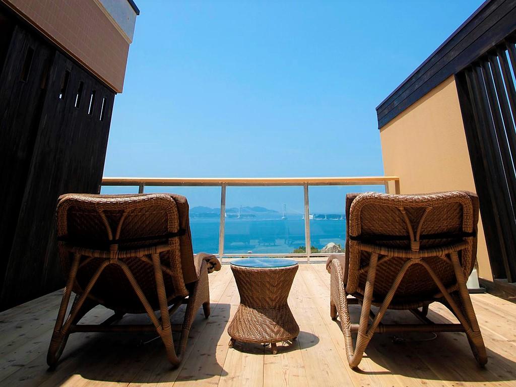 全室にあなただけの専有露天風呂とテラスを有する特別客室「別邸 蒼空<離れ>」2012年8月グランドオープン