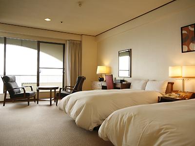 スタンダード洋室(34�u)の料金でお部屋を2ランクアップグレード!≪画像は49.5�uの和洋室≫