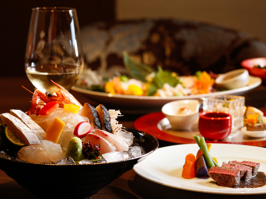 お料理を選べる楽しさ♪メイン料理やデザートなどあなたの好みでお選びいただけます≪料理イメージ≫