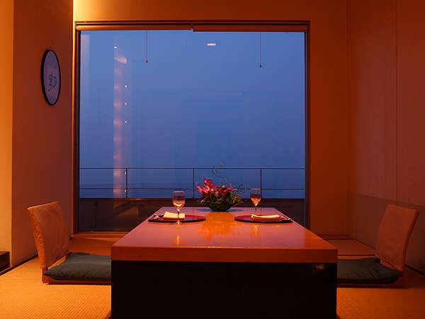 ホテル最上階で落ち着いた雰囲気の個室料亭「磯辺亭」