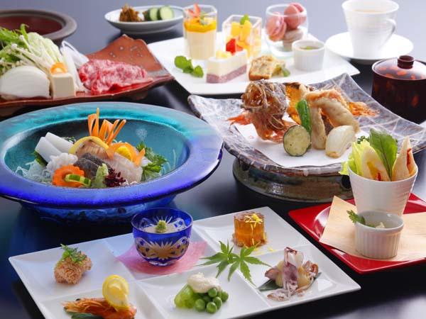 お食事は四季彩ダイニングで目にも鮮やかな料控えめのディナーコース(イメージ)