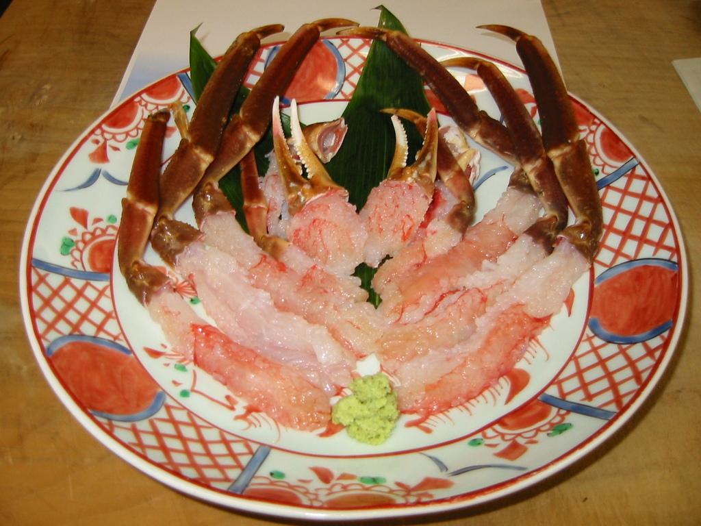 活ずわい蟹の洗い