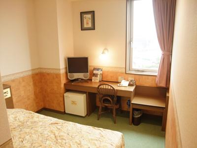 こちらはシングルルームAのお部屋です。