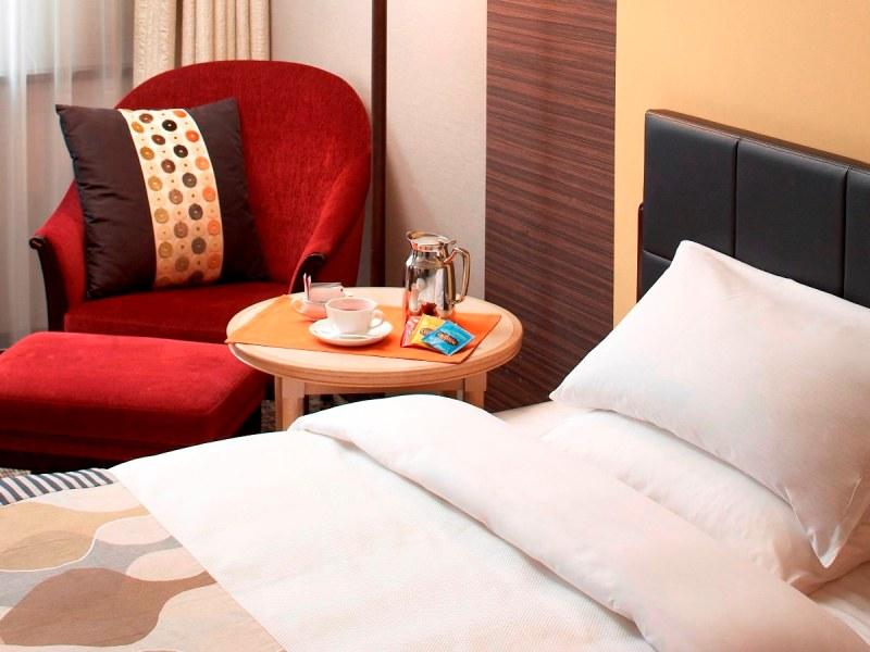 26.5平米以上の広々とした客室で快適な滞在をお楽しみください