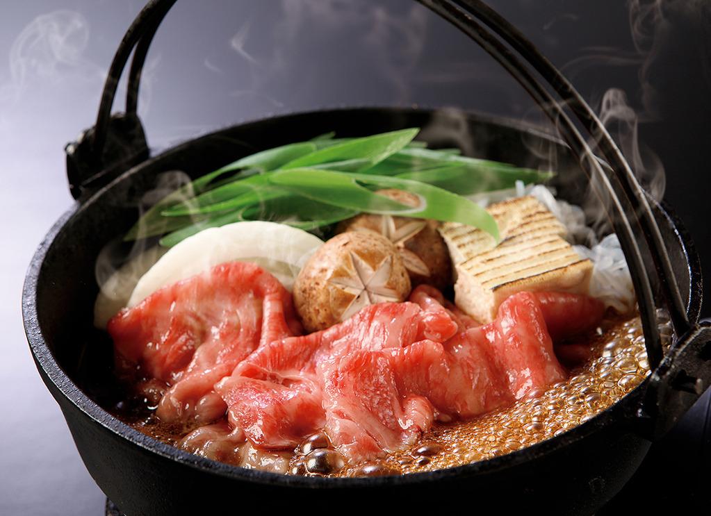 近江牛のすき焼き ※写真はイメージです