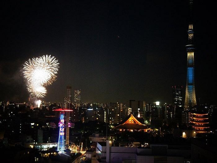 第1会場での花火は「桜橋」付近より上がります