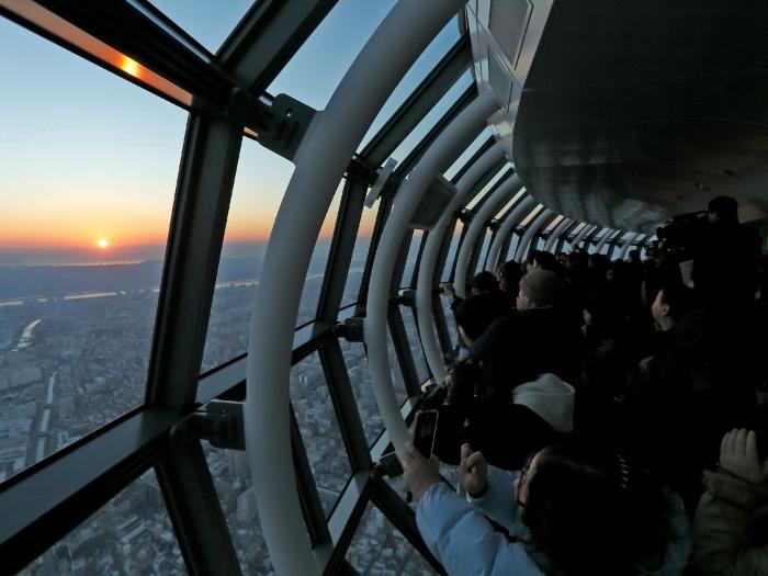 東京スカイツリーから見た初日の出(C)TOKYO-SKYTREE