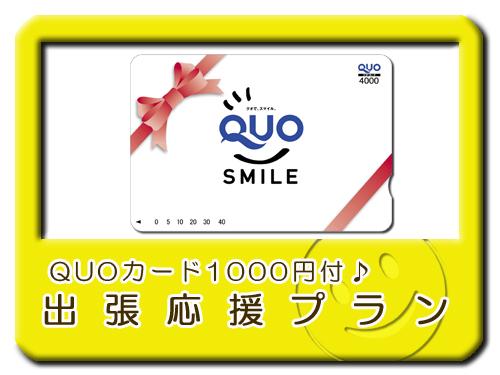 全国で使える便利なQUOカード1000円分付☆