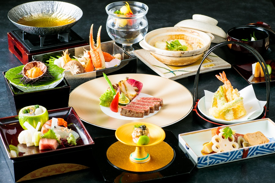 An example of Japanese Kaiseki image. Menu changes depending on the season and market situation.