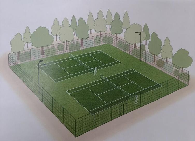 2017年春テニスコート新設!
