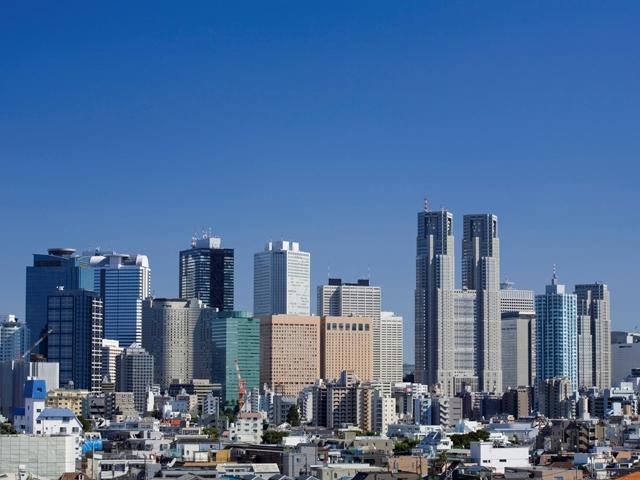 青空の下の高層ビル,時間があれば是非おすすめの絶景♪