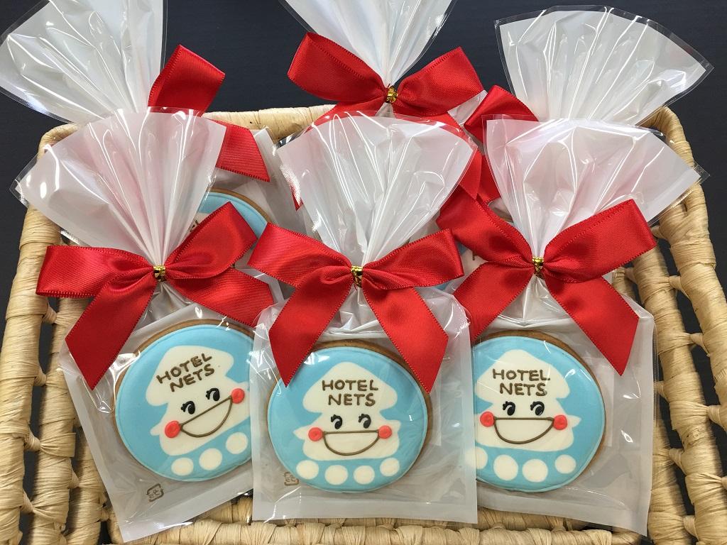 【アイシングクッキー】函館と言えばイカ!という事で、オリジナルのイカの絵をクッキーにしてみました♪