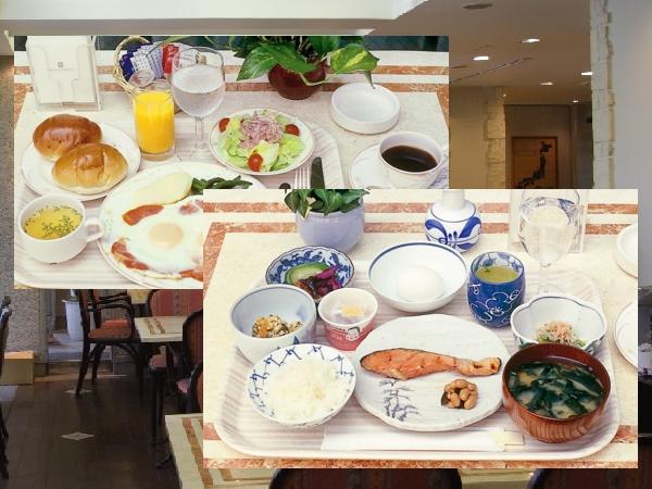 和食、洋食からお選びいただきます。