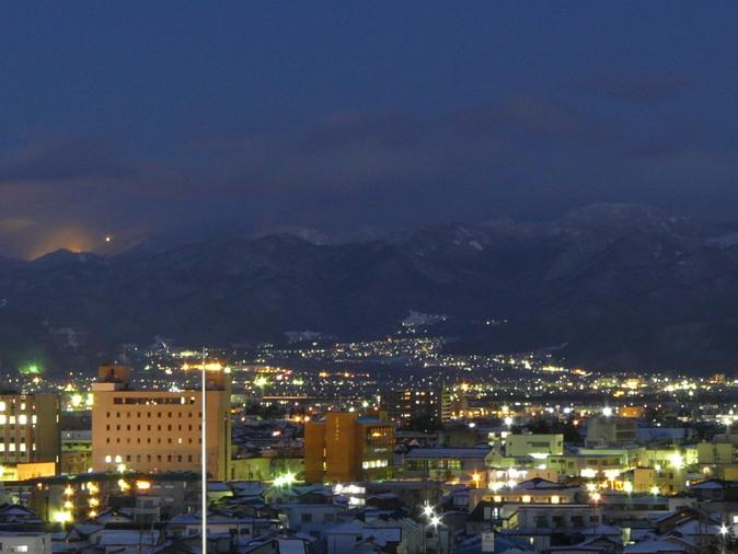 冬の長野市街
