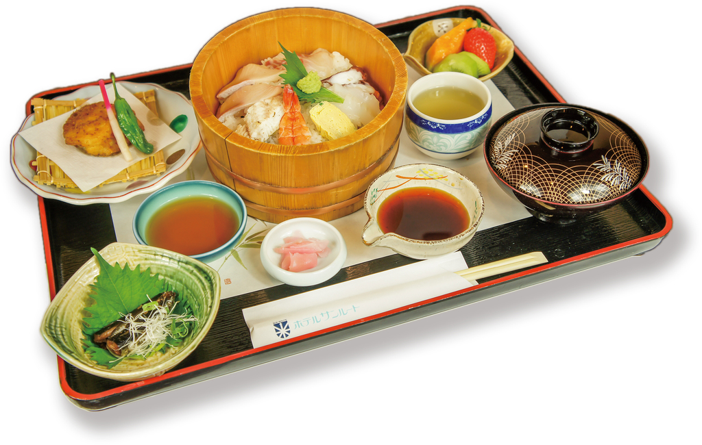 夕食例:鯛素麺御膳