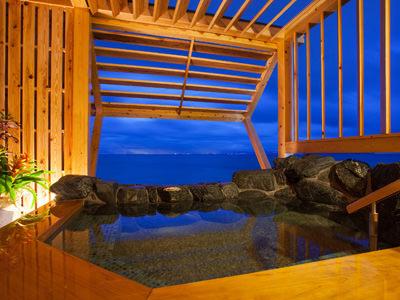 プライベートな空間で洲本温泉をお愉しみ頂ける「花季貸切露天風呂」