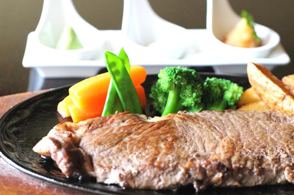 赤城牛のステーキ