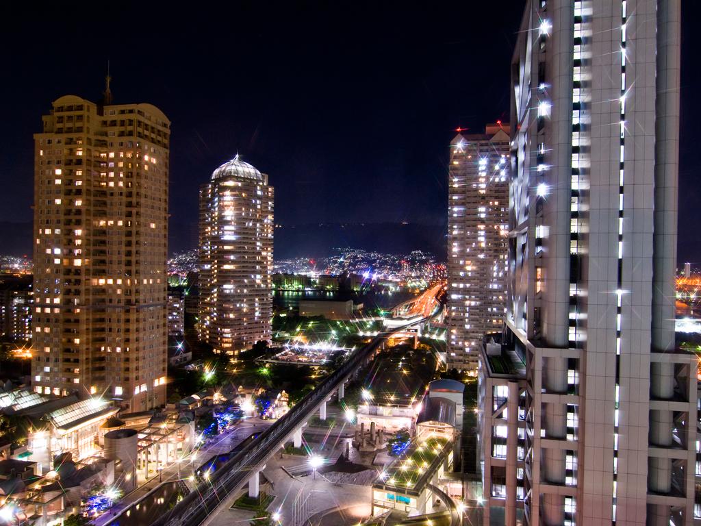 ホテル周辺の夜景