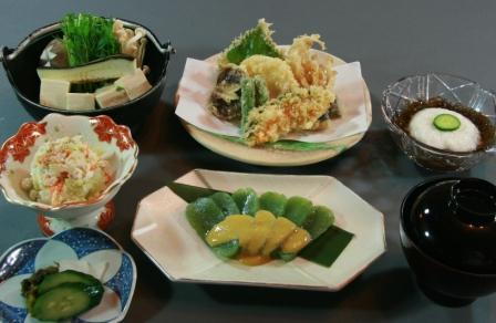 精進料理(1日目ご夕食イメ一ジ)
