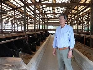 鳥取和牛万葉牛の生産者谷口牧場さん