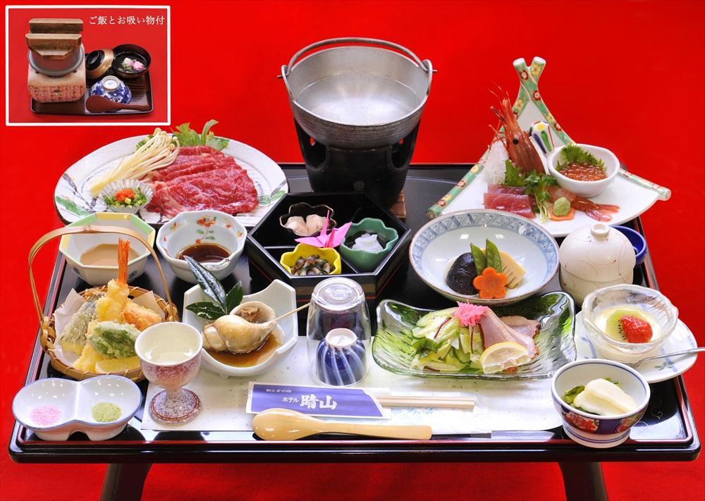 松プランのイメージ写真です。お料理は季節によって多少異なります。