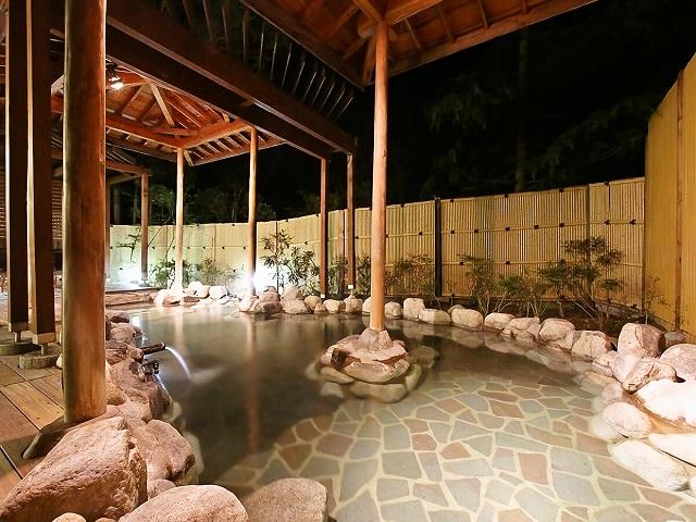 源泉100%の県内でも希少な高温の酸性泉でお肌がスベスベ『美肌温泉』