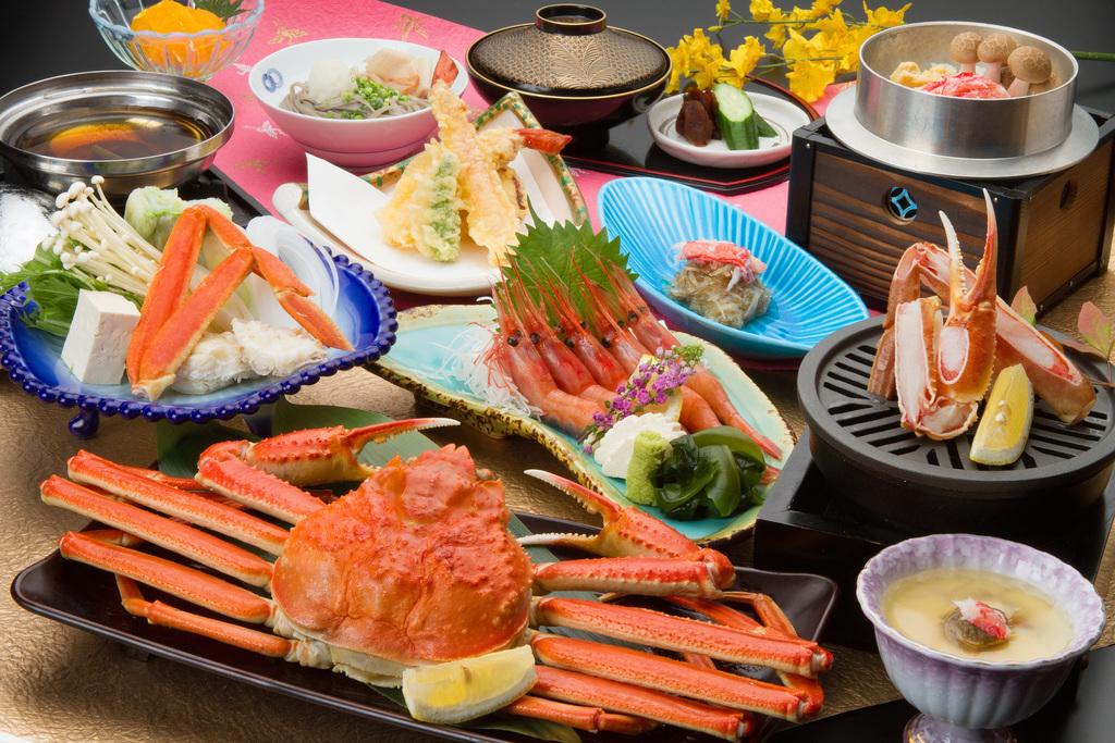 越前蟹350g付会席 お料理イメージ
