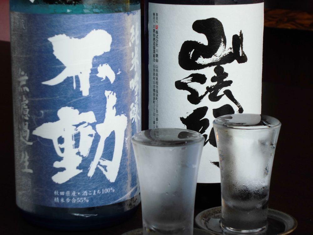 支配人厳選の日本酒2種をご用意してます。