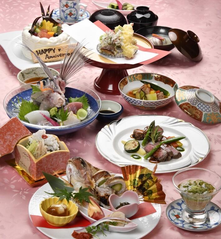 記念日スペシャル(お料理は季節により内容がかわります)